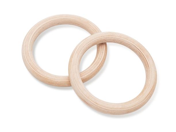 Turnringe aus Schichtholz für professionelle Übungen, bspw. Eigengewichtübungen.