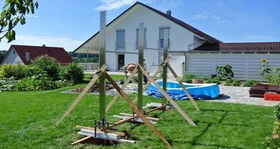Foto Klimmzugstange für den Garten